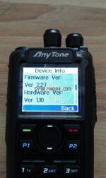 Anytone AT-D868UV Firmware 2.27 GPS DMR Dual Band Analog Digital Radio