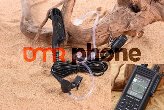 2-wire Air Acoustic Tube Headset For Radio-Tone RT4 on