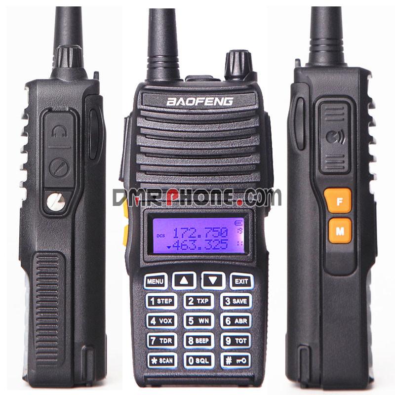True 8W 10km Long Range Baofeng UV-82 II PTT Walkie Talkie Pofung Tri-Power VHF UHF
