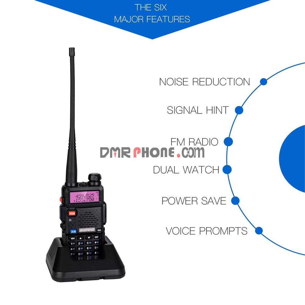 Baofeng UV-5R 5W 128CH FM Dual Band Walkie Talkie Amateur Radio Station