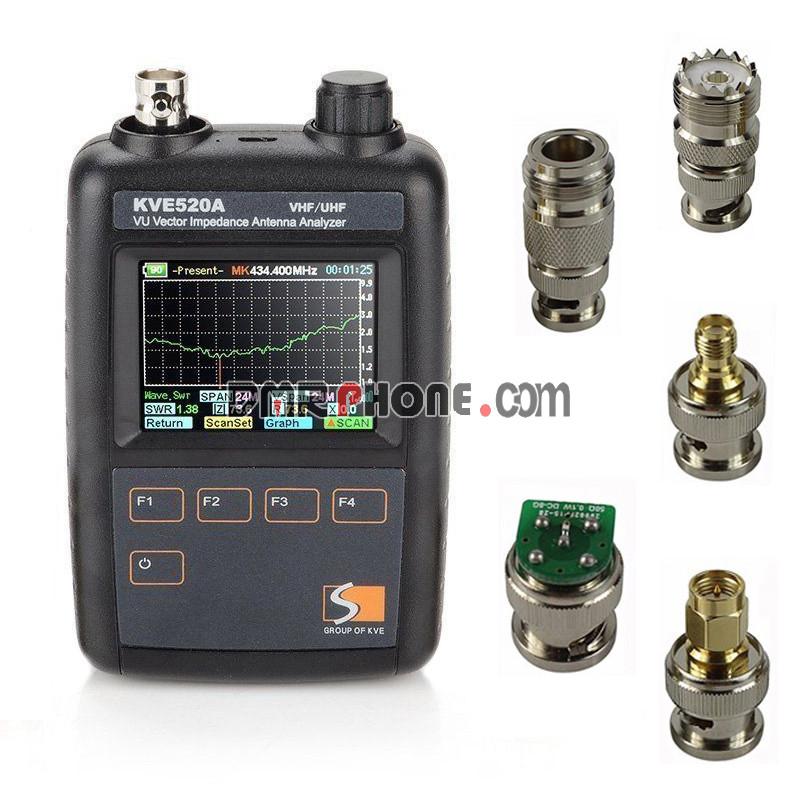 Updated KVE520A VHF/UHF Vector Impedance Antenna Analyzer for DIY Ham Radio
