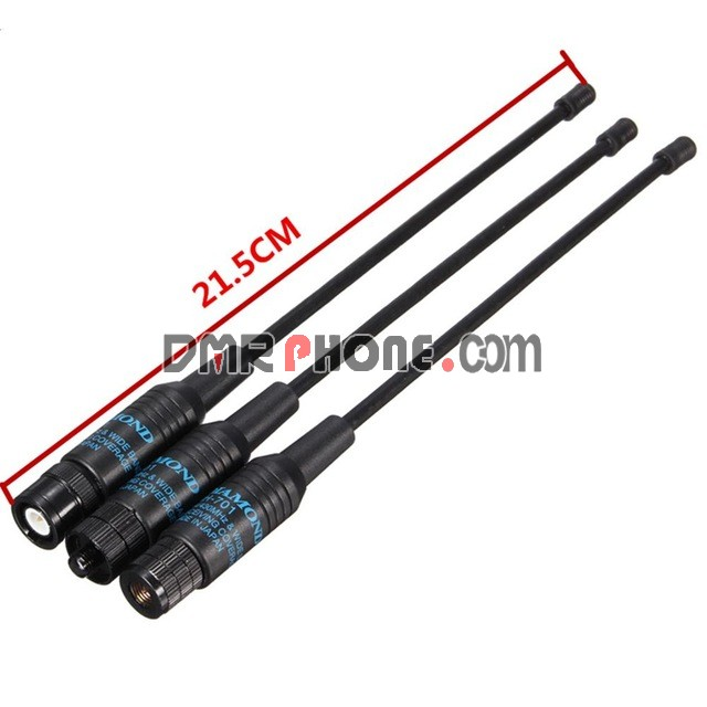 Baofeng TYT WOUXUN Quansheng Walkie Talkie RH-701 SMA-F/SMA-M/BNC Diamond  Dual Band Antenna