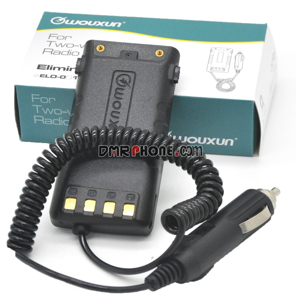 Wouxun Walkie Talkie KG-UV9D Plus Battery Eliminator Adapter Car Charger