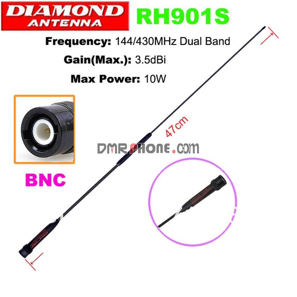 3PCS DIAMOND RH901S SMA Male Dual Band High Gain Antenna For Yaesu Vertex  Standard TYT etc