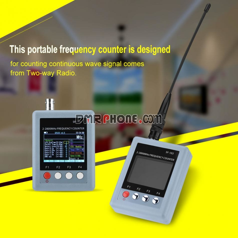 Surecom SF-103 2-2.8GHz Frequency Meter for Counting Analog DMR Walkie Talkie Continuous Wave Signal