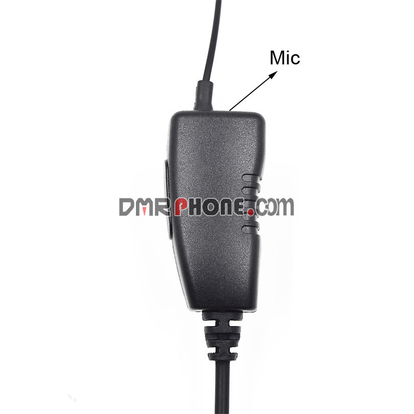 Radio Transceiver FBI EarHook D-Ring Headphone PTT Mic for TYT HYT Kenwood Baofeng UV5R