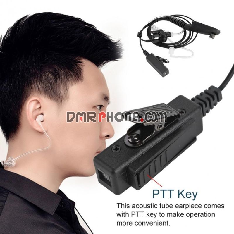 4ft Radiation-proof Motorola Radios PTT Acoustic Tube Earphone