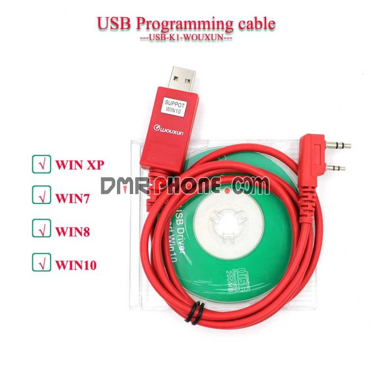 Wouxun K1 Plug USB Programming Cable Support WIN10 for All radios