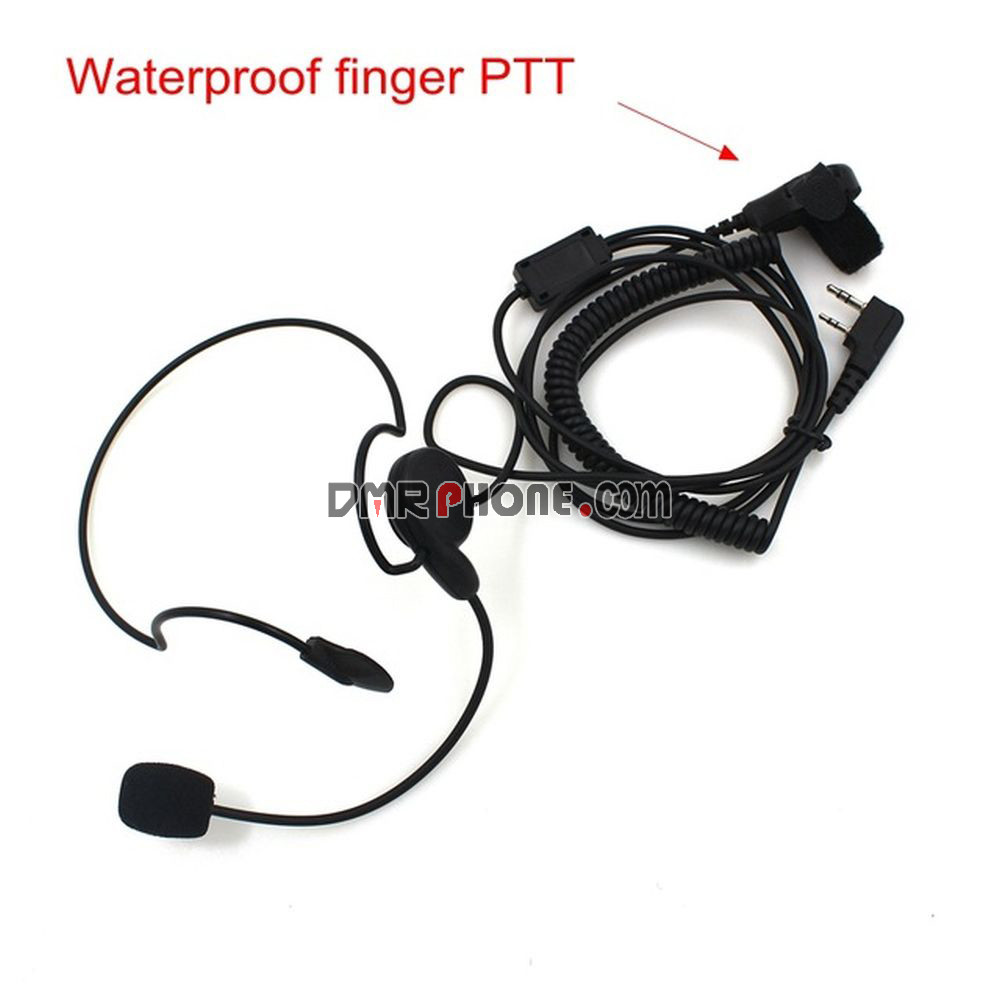 Kenwood Baofeng Puxing TYT HYT Radio Neckband Unilateral Earpiece Finger PTT Mic