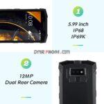 IP68/IP69K Rugged 4G Phone PTT DMR  Walkie Talkie NFC Wireless Charge