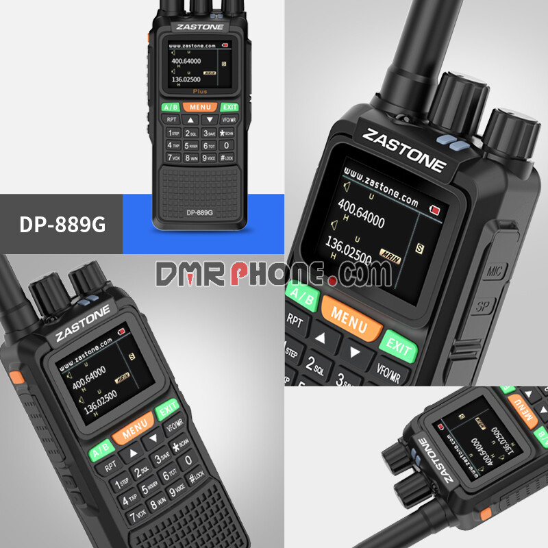 Zastone DP-889G Newest GPS Location System Digital Walkie Talkie For Expedition Crews