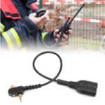 Walkie TalkieAudio Cable Adapter Fit forMotorolaMTH800 MTH850 MTP850 MTS850 to UV-5R K Head Change Port Cable