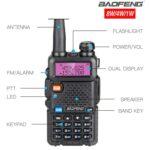 Baofeng UV-5R VHF UHF Transceiver Amateur Radio CBStation 8Watts 10km Hunting Transmitter