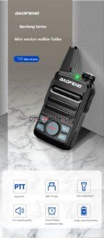A Pair 2020 New Baofeng BF-T99 Dual PTT UHF Handheld Wireless Intercom