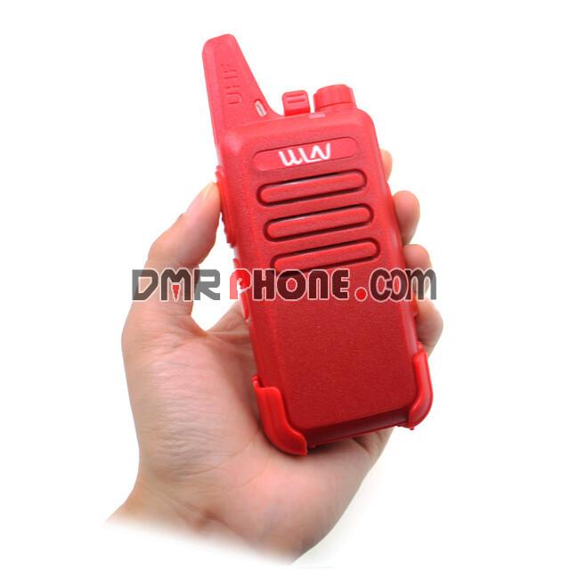 Black Red White Super Thin WLN KD-C1 UHF 400-470 MHz MINI Two way Radio